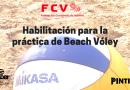 Habilitación para la práctica de Beach Vóley