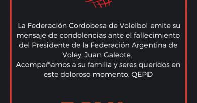 El Voley Argentino esta de luto